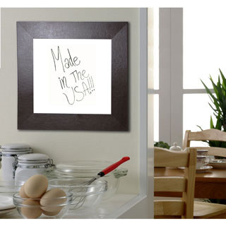 American Made Rayne Wide Brown Leather Dry Erase Board