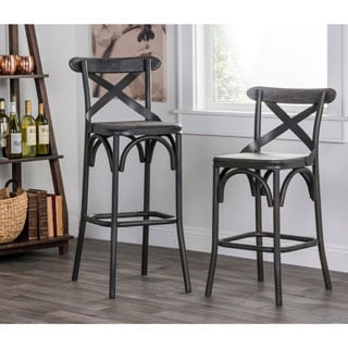 Kosas Home Dixon Rustic Stony Grey Bar Stool