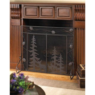 Pine Cones Woodland Fireplace Screen