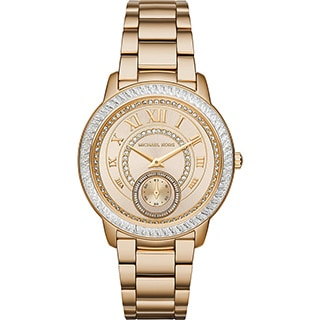 Michael Kors Women's MK6287 'Madelyn' Crystal Gold-Tone Stainless Steel Watch