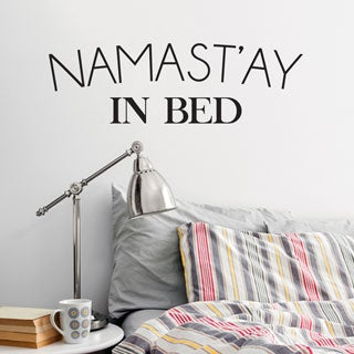 'Namast'ay In Bed' Wall Decal