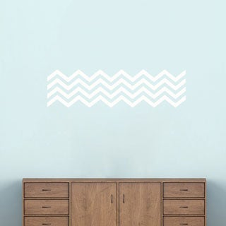 Chevron Stripes' 38 x 10-inch Wall Decals