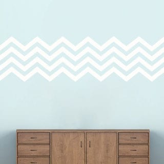 Chevron Stripes' 62 x 17-inch Wall Decals