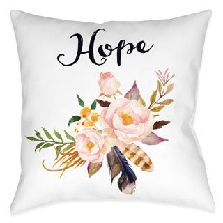 Laural Home Floral Bohemian Hope Decorative 18-inch Throw Pillow