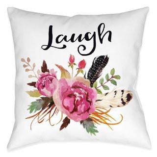Laural Home Floral Bohemian Laugh Decorative 18-inch Throw Pillow