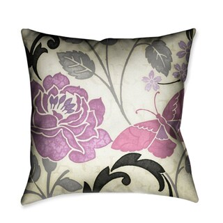 Laural Home Lavender Rose I Decorative 18-inch Throw Pillow