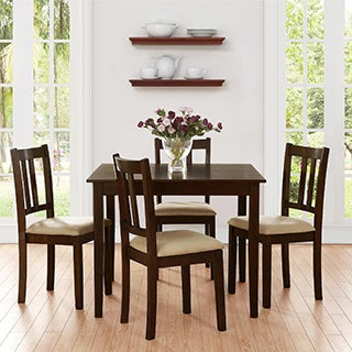 Dorel Living Redmond Espresso 5-piece Traditional Height Dining Set