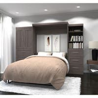 """Pur by Bestar 126"""" Queen Wall bed kit with six drawers & two-door set"""