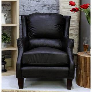 Somette Rondo San Lorenzo Espresso Bonded Club Chair