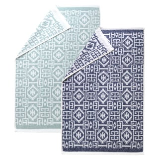 Authentic Hotel and Spa Kaya Turkish Cotton Jacquard Bath Towel (Set of 2)