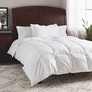 St. James Home All Season Cotton Dobby White Goose Down Comforter