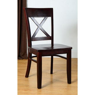 Simple Living Easton Crossback Rubber Wood Chair
