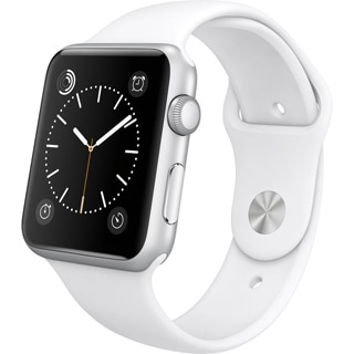 Apple Watch Sport (42mm, Silver Aluminum, White Band)