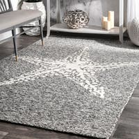 nuLOOM Handmade Coastal Giant Starfish Indoor/ Outdoor Grey Rug - 8' x 10'