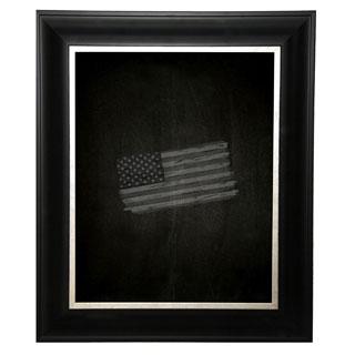 American Made Rayne Grand Black and Aged Silver Blackboard/Chalkboard