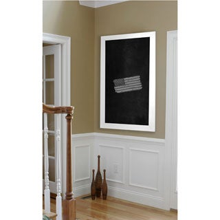 American Made Rayne White Satin Wide Blackboard/Chalkboard (More options available)