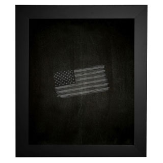 American Made Rayne Black Satin Wide Blackboard/Chalkboard