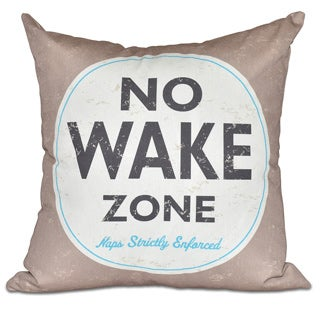 Nap Zone Word Print 20-inch Pillow