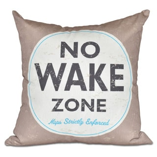 Nap Zone Word Print 16-inch Pillow