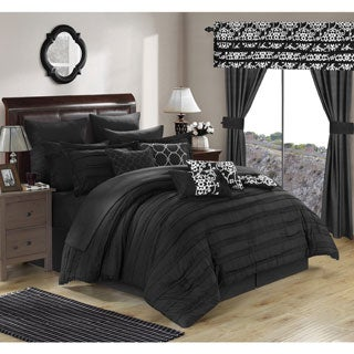 Chic Home Olivier Black 24-piece Bed in a Bag with Sheet Set
