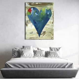 Deborah' Heartwork Wrapped Canvas Wall Art