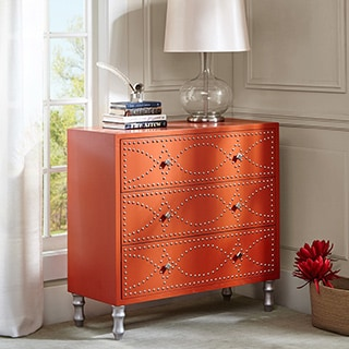 Madison Park Lyon Tangerine Nail head Accent Chest