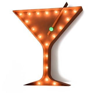 Indoor/ Outdoor 2 ft. Steel Martini Glass Marquee Sign