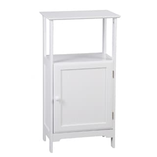 Adeco White Finish Storage /Towel Cabinet