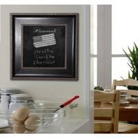 American Made Rayne Black With Silver Caged Trim Blackboard/Chalkboard