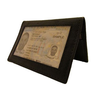 Continental Leather Dual Purpose Front Pocket Credit Card Case Wallet Business Card Holder
