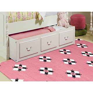 Sonora Pink Flat-weave Rug (8' x 10')