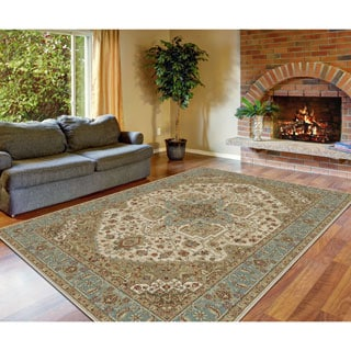 Alise Fairview Traditional Oriental Blue Area Rug (5'3 x 7'3)