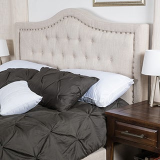 Dante Full/ Queen Upholstered Tufted Fabric Headboard by Christopher Knight Home