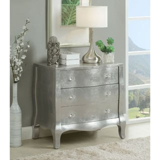 Somette Silver 3-Drawer Chest