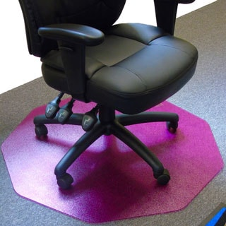 "Cleartex 9Mat Ultimat Polycarbonate Chairmat for Low & Medium Pile Carpets up to 1/2"" In Cerise Pink"