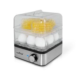 NutriChef PKEC12 Electronic Food Steamer, Egg Cooker and Boiler