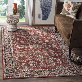 Safavieh Artisan Vintage Rust/ Navy Distressed Area Rug (8' x 10')