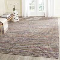 Safavieh Handmade Nantucket Beige Multicolored Cotton Rug (8' x 10')