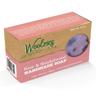 Woolzies 100-percent Natural Handmade Soap Bar (Rose and Sandalwood)