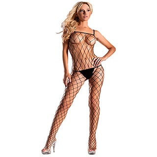Women's Lycra Diamond Net Bodystocking