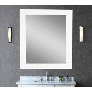 Large White Wall Mirror 32 x 38