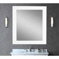 BrandtWorks Large 32 x 38 - inch White Wall Mirror - Matte White - Matte White