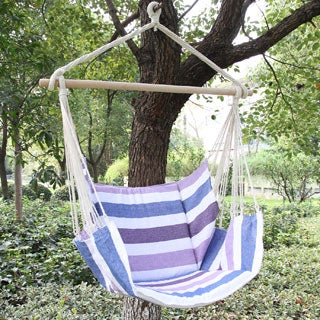 Adeco Cotton Fabric Hanging Chair With Mat and BUTTERFLY Side
