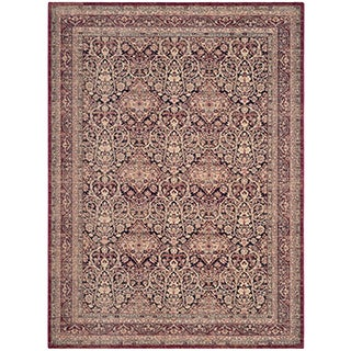 Safavieh Lavar Kerman Navy/ Red Cotton Rug (10' x 14')