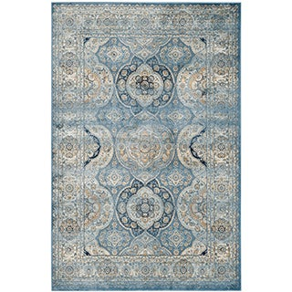 Safavieh Persian Garden Vintage Light Blue/ Ivory Viscose Rug (6'7 x 9'2)