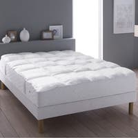 233 Thread Count Cotton Duck Feather Mattress Topper - White