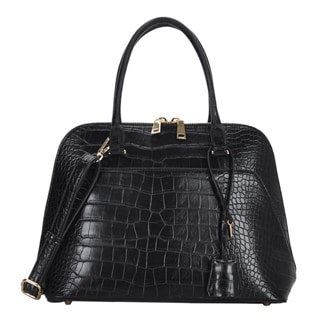 Mechaly Women's Judy Black Vegan Leather Tote Handbag