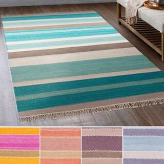 Hand-Woven Liora Wool/Cotton Rug (5' x 7'6)