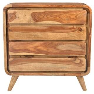 Handmade Wanderloot Oslo Solid Sheesham 4-drawer Dresser (India)