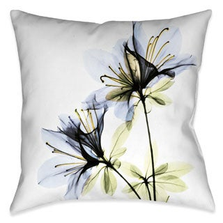 Laural Home X-Ray Azalea Flower Decorative Throw Pillow (18 inches x 18 inches)